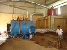 CRUSHED COCONUT BOILER WITH SCREW FEEDER